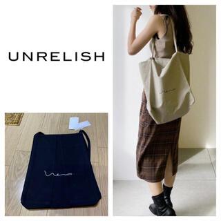 UNRELISH - 新品 アンレリッシュ ロゴトートバッグ クロ