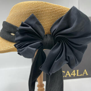 CA4LA - 【試着のみ】CA4LA カシラ 風の方向 リボン 帽子 ハット