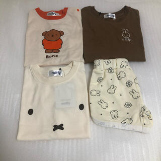 シマムラ(しまむら)のミッフィー ボリス Tシャツ ハーフパンツ しまむら ベビー 90 100(Tシャツ/カットソー)