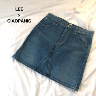 チャオパニックティピー(CIAOPANIC TYPY)のコラボ Lee デニムスカート レディース Mサイズ チャオパニック ひざ上(ミニスカート)
