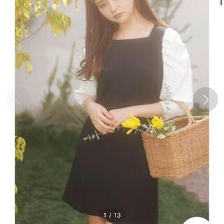 INGNI - 【着用一度のみ!美品】INGNI 袖異素材ワンピース  黒