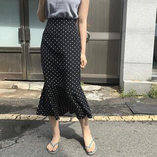 ディーホリック(dholic)の韓国通販 ドット柄 マーメイドスカート(ロングスカート)