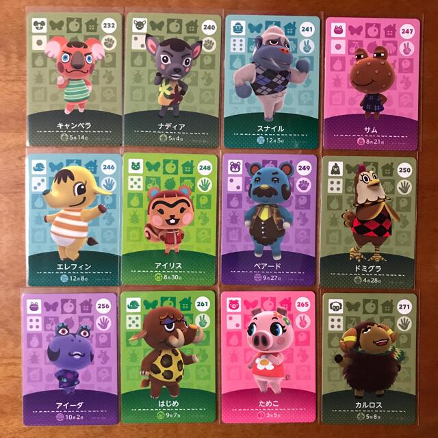 任天堂(ニンテンドウ)の[1枚50円均一]どうぶつの森amiiboカード59枚セット エンタメ/ホビーのゲームソフト/ゲーム機本体(その他)の商品写真