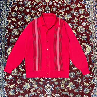 ALLEGE - VINTAGE open collar SH pattern cardigan