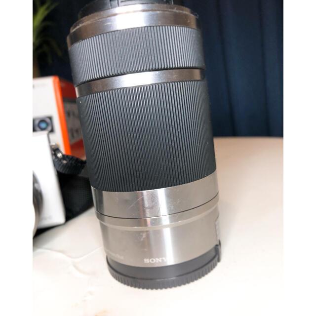 SONY(ソニー)の[期間限定値下げ]SONY α6000 ダブルズームレンズキット ミラーレス一眼 スマホ/家電/カメラのカメラ(ミラーレス一眼)の商品写真