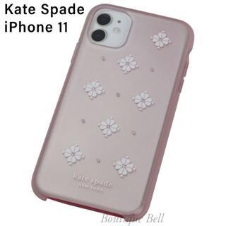 kate spade new york - 【KateSpade】ケイトスペード ピンクフラワー iPhone11ケース