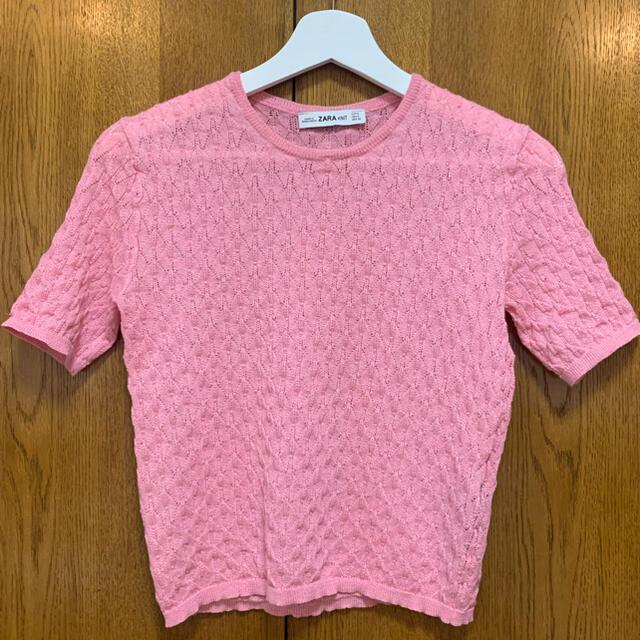 ZARA(ザラ)のZARA サマーニットTシャツ メンズのトップス(Tシャツ/カットソー(半袖/袖なし))の商品写真