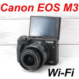 キヤノン(Canon)の❤️カメラバッグ付き❤️Wi-Fi搭載❤️Canon EOS M3(ミラーレス一眼)