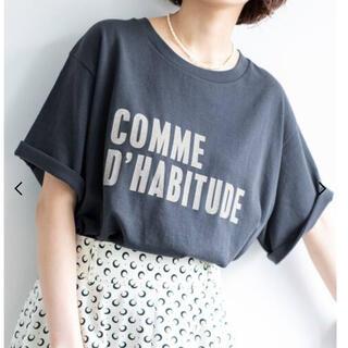 IENA - COMME DHABITUDE Tシャツ【ネイビー】未開封