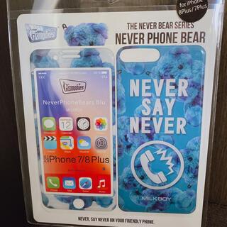 ミルクボーイ(MILKBOY)の【新品未使用】MILK BOY iPhone モバイルプロテクター 紺(iPhoneケース)