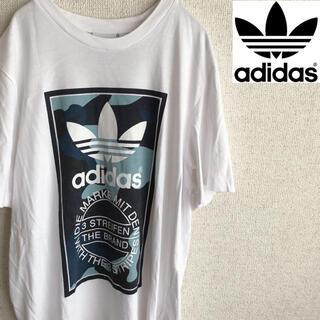 アディダス(adidas)のadidas レディース ビッグロゴ プリント 半袖 Tシャツ アディダス L(Tシャツ(半袖/袖なし))