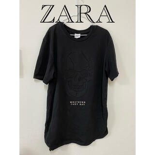 ザラ(ZARA)のドクロ ZARA  Tシャツ(Tシャツ/カットソー(半袖/袖なし))