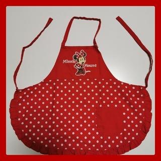 ディズニー(Disney)のミニーマウス 子供用エプロン 赤 水玉 110cm(その他)