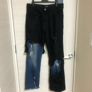RAF SIMONS - RAF SIMONS RELAXED FIT DESTROYED PANTS