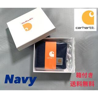 カーハート(carhartt)の大人気カーハート 二つ折り財布 ネイビー(折り財布)