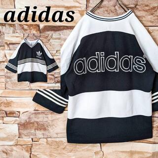 アディダス(adidas)の【古着女子】アディダスオリジナルス adidas 五分袖カットソー Tシャツ古着(Tシャツ/カットソー(七分/長袖))