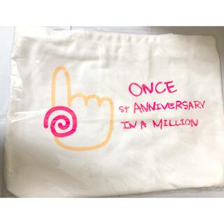 ウェストトゥワイス(Waste(twice))のTWICE ONCE限定 一周年記念 トートバッグ 1stアニバーサリー(K-POP/アジア)