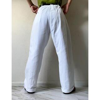 マルタンマルジェラ(Maison Martin Margiela)のvintage 美品 40s 50s 白 ホワイト ワイドパンツ スラックス(スラックス)