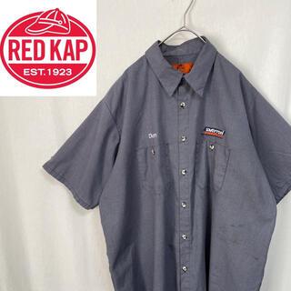 80's   レッドキャップ  半袖ワークシャツ チェック(シャツ)