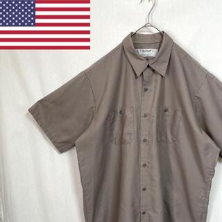 80's    wear guard  半袖 ワークシャツ アメリカ製(シャツ)