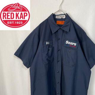 80's    レッドキャップ  半袖 ワークシャツ 企業ロゴ(シャツ)