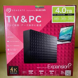 ELECOM - 【新品未使用】ELECOM SGD-JMX040UBK 外付けHDD 4TB