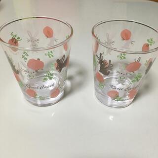 ルピシア(LUPICIA)の非売品 カレルチャペック ミニグラスポンポンうさぎ 2点セット(茶)