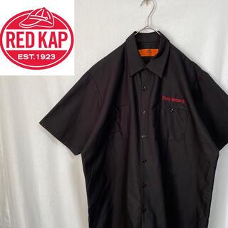 80's    レッドキャップ  半袖 ワークシャツ(シャツ)