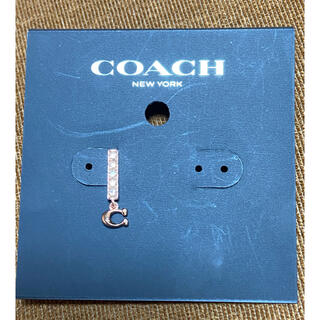 COACH - COACHコーチ ロゴC ピンクゴールド 新品ピアス ブランド スワロフスキー