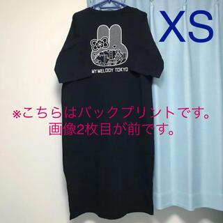 ジーユー(GU)のGU マイメロディ ワンピース ブラック XS(ロングワンピース/マキシワンピース)