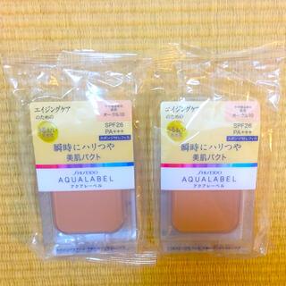 アクアレーベル(AQUALABEL)のアクアレーベル つや肌パクト OC10 2個セット(ファンデーション)
