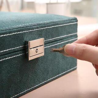 二層アクセサリー収納ボックス美品(ケース/ボックス)