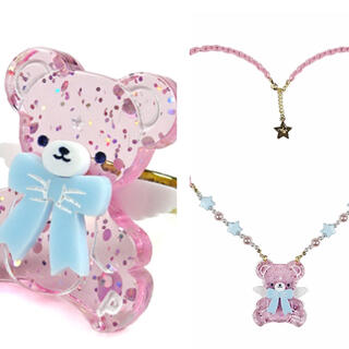 Angelic Pretty - Angelic Pretty Milkyベアー リング ネックレス