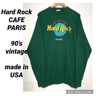 RRL - 90年代 ビンテージ アメリカ製 Hard Rock CAFE スウェット 緑