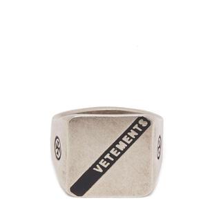 VETEMENTS ロゴ シルバー シグネットリング(リング(指輪))
