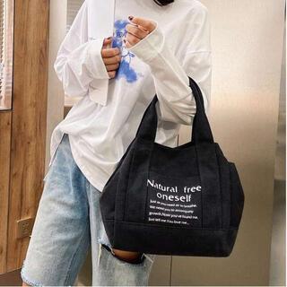 ☆人気商品☆黒 2way トートバッグ レディース ハンドバッグ キャンバス(マザーズバッグ)