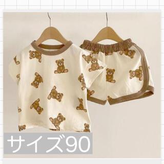 くまさんセットアップホワイト 韓国子供服90