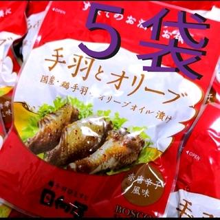 日向屋 手羽とオリーブ 赤唐辛子風 (国産鶏手羽のBOSCOオリーブオイル漬け)(レトルト食品)