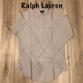デニムアンドサプライラルフローレン(Denim & Supply Ralph Lauren)のラルフローレン ストライプシャツ水色未使用に近い(Tシャツ/カットソー(半袖/袖なし))
