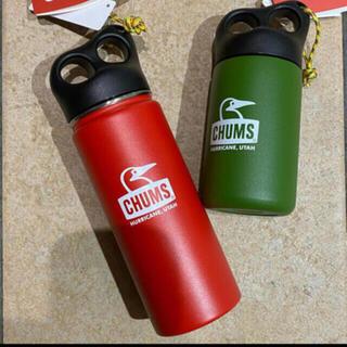 チャムス(CHUMS)の CHUMS チャムス キャンパーステンレスボトル Red & Olive (食器)
