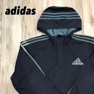 アディダス(adidas)のadidas【美品】フード付きナイロンパーカー(ジャージ)