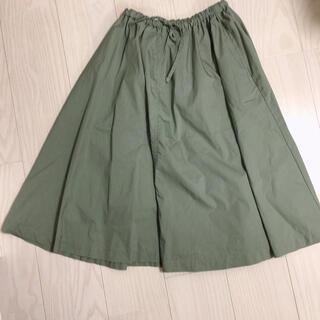 MUJI (無印良品) - 無印良品 スカート  若草色 グリーン カーキ オリーブ