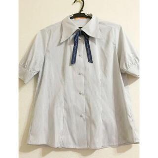 フィント(F i.n.t)のクラシカル リボン ブラウス (リボン取り外し可)(シャツ/ブラウス(半袖/袖なし))
