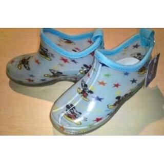 ディズニー(Disney)の新品 ディズニーミッキー♪レインブーツ 雨 長靴 17cm(長靴/レインシューズ)