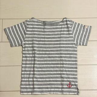 チャオパニックティピー(CIAOPANIC TYPY)の チャオパニックティピー 130 グレー ボーダー Tシャツ(Tシャツ/カットソー)