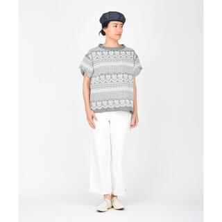45rpm - 45rpm 45R ダンガリーのチューリップ刺繍Tシャツ ¥44,000