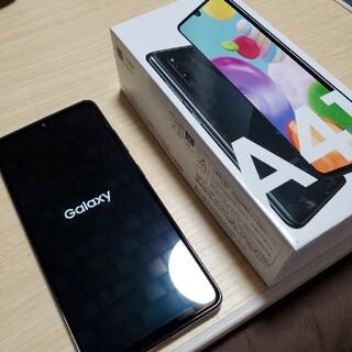 サムスン(SAMSUNG)のGalaxy A41 ブラック au SIMフリー(スマートフォン本体)