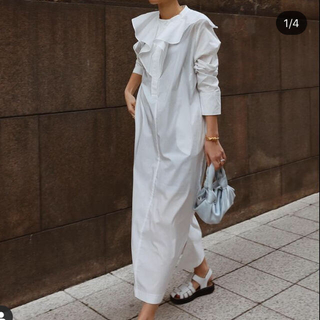 Drawer - 新品 machatt マチャット ラッフルカラーシャツドレス ワンピース