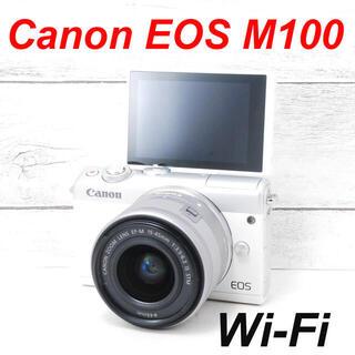 キヤノン(Canon)の❤️Wi-Fi搭載でスマホへ❤️自撮り❤️Canon EOS M100(ミラーレス一眼)