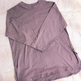 グレイル(GRL)のグレイル tシャツ 長袖 トップス モカ (Tシャツ(長袖/七分))
